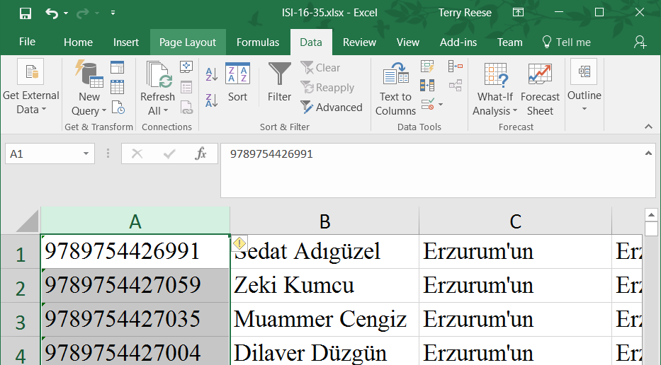 how to put a line through your text in excel