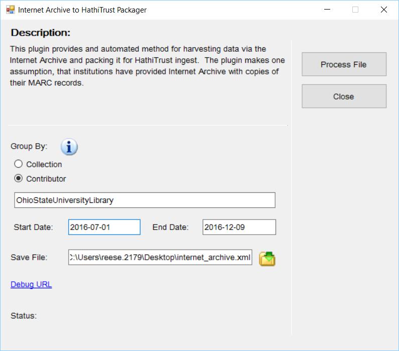MarcEdit Internet Archive/HathiTrust Data Packager Plugin